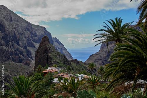 Printed kitchen splashbacks Canary Islands Anaga Mountains in Tenerife