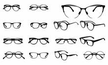 Set Of Various Stylish Eye Gla...