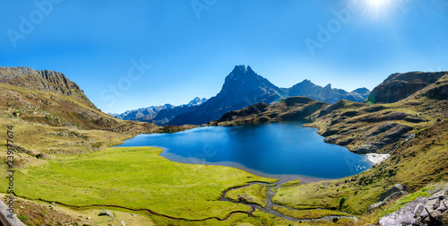 Aluminium Prints view of the mountain of Pic Du Midi Ossau, France, Pyrenees