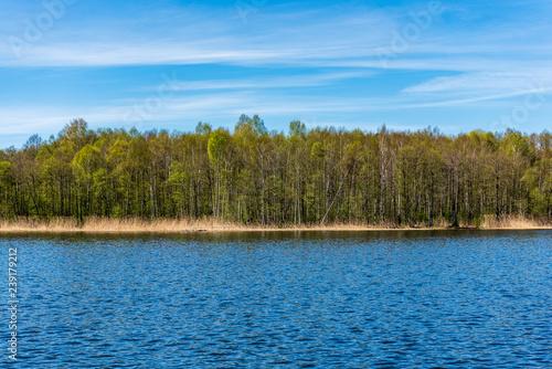 Printed kitchen splashbacks Lake lakeside beach details with sand, rocks and blur background