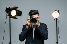 Young Indian Man Photographer ...