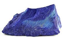 Madani Lapis Lazuli From Badakhshan Province, Afghanistan Isolated On White Background