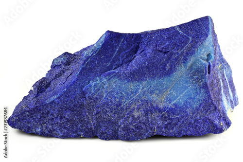 madani lapis lazuli from Badakhshan province, Afghanistan isolated on white back Canvas Print