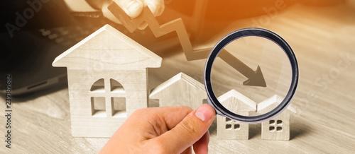 Fotografía  a decline in property prices