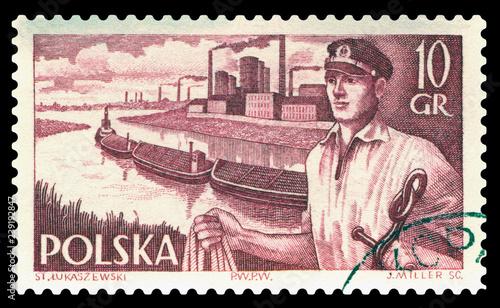 Fényképezés  Postage stamp. Docker.