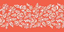 Floral Vector Border White Ros...