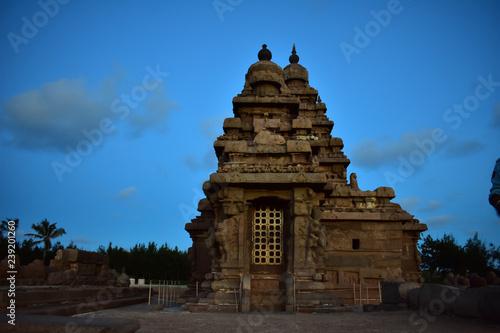 Valokuva Chennai, Tamilnadu - India - September 09, 2018: Seashore Temple in Mahabalipura