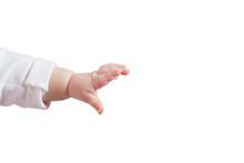 Left Children Hand Isolated On...
