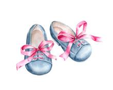 Blue Denim Baby Shoes.