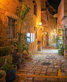 Fototapeta Uliczki - Narrow street in the old town of Jaffa