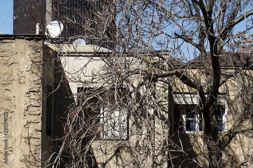 Tuinposter Begraafplaats windows view