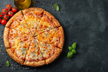 Delicious Italian Pizza Four C...