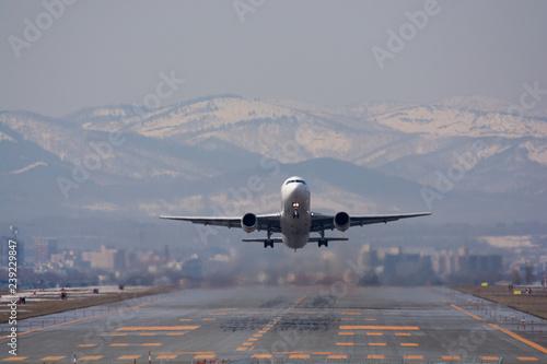 Fotografie, Obraz  離陸する飛行機
