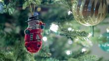 Christmas Tree Decorations Closeup, Santa, Lights, Background, Macro, Cute, Fun, Holiday, Please Support Me,