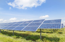 Rows Array Of Solar Cells Or P...