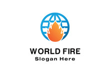 WORLD FIRE LOGO DESIGN