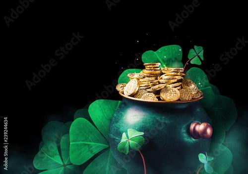 Saint Patricks day background concept Fototapeta