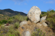 Large Boulder Near The Sweetwater Bridge In San Diego, California