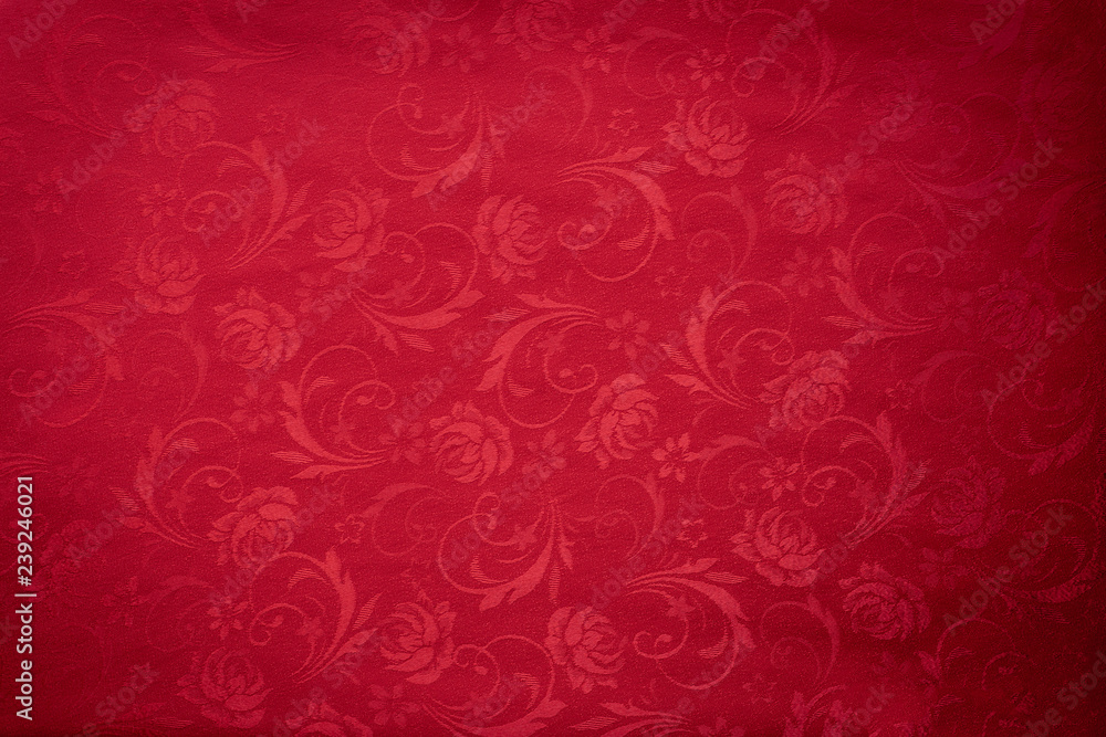 Fototapety, obrazy: Copy space for text on red texture background, concept of Chinese new year background.