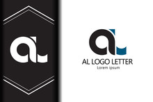 Alphabet  Logo Letter AL With Combination, Lowercase For Business - Vector