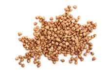 Buckwheat Grain Isolated On Wh...