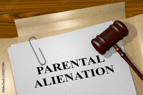 Photo PARENTAL ALIENATION concept