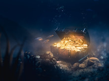 Sunken Treasure At The Bottom Of The Sea