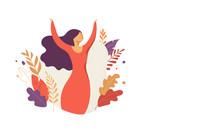 Feminine Concept Illustration,...