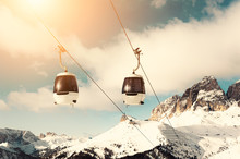 Ski Lift Cabin In Ski Resort I...