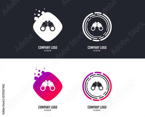 logotype concept binoculars icon find software sign spy equipment symbol logo design colorful buttons with icons vector buy this stock vector and explore similar vectors at adobe stock adobe stock adobe stock
