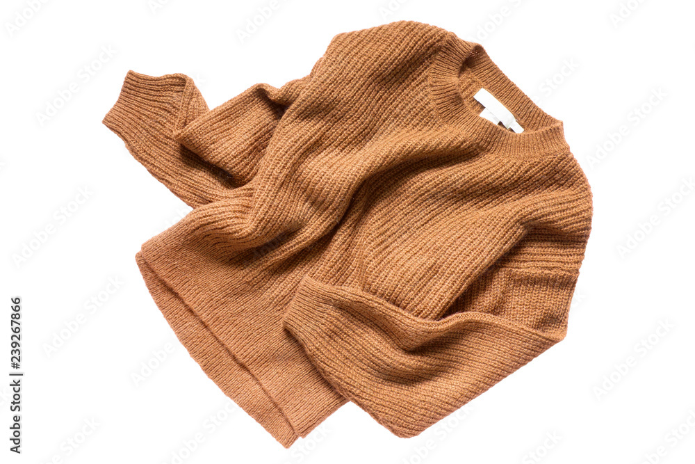 Fototapety, obrazy: Brown sweater isolated