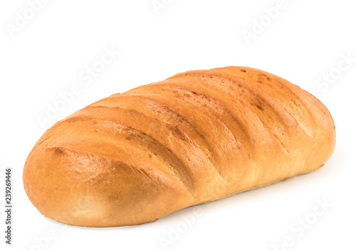 Fotografie, Obraz  loaf bread isolated on white