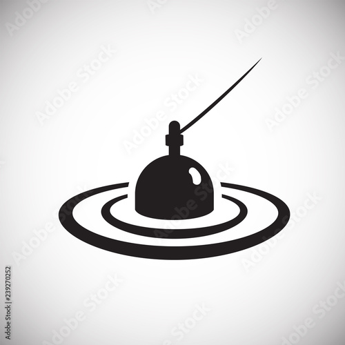 Fotografie, Obraz Floater icon on white background for graphic and web design, Modern simple vector sign