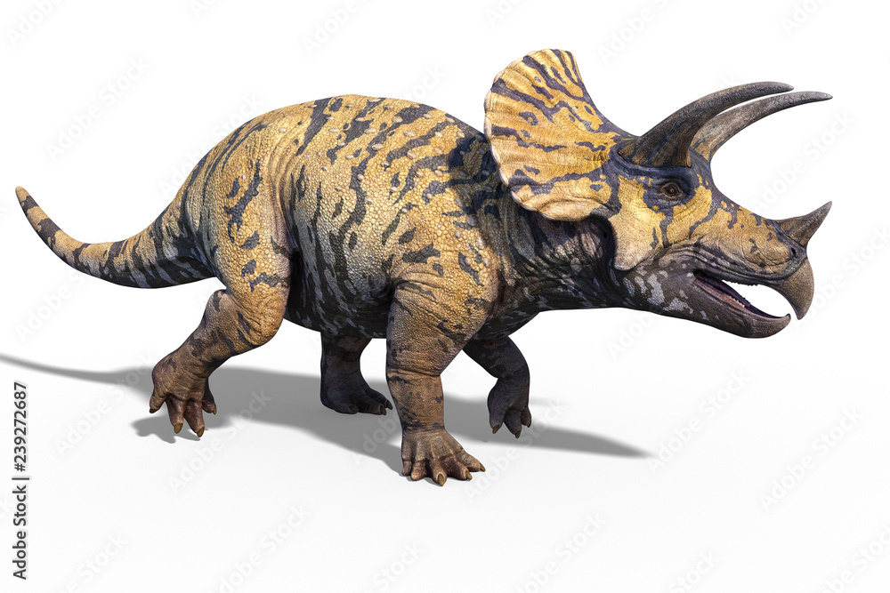 3d render of a giant prehistoric dinosaur Triceratops
