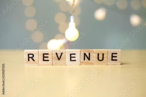 Revenue, Business Words Quotes Concept Tablou Canvas