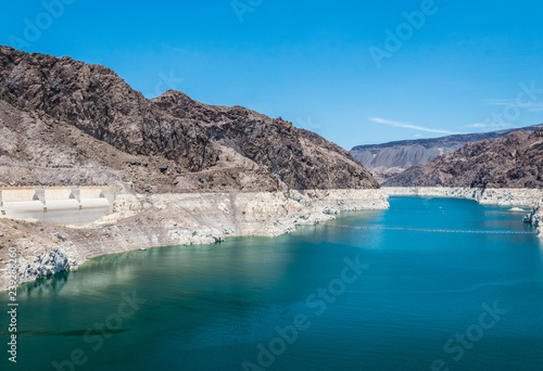 In de dag Centraal-Amerika Landen Lake Mead in Nevada and Arizona. Recreation and water tourism area in the southwest of the USA