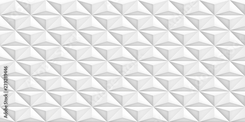 Volume realistic vector light texture, geometric seamless tiles pattern, design white background for you projects  - 239289446