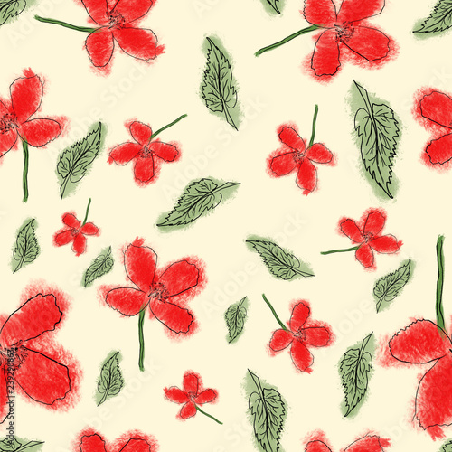 Poppy Seed Seamless Repeating Pattern For Graphic Designs