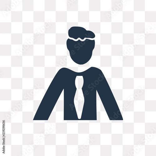 Photo  Avatar vector icon isolated on transparent background, Avatar  transparency conc