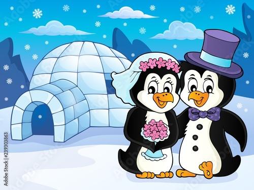 Penguin wedding theme image 2