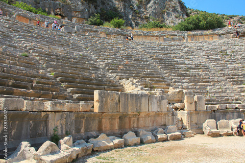 Valokuva  Ancient Greek-Roman amphitheatre in Myra, old name - Demre, Turkey