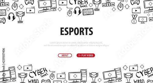 Cyber Sport banner  Esports Gaming  Video Games  Live