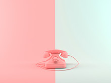 Abstract 3D Rendering Telephone