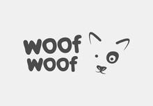 Dog Face Logo Vector Icon Branding Design