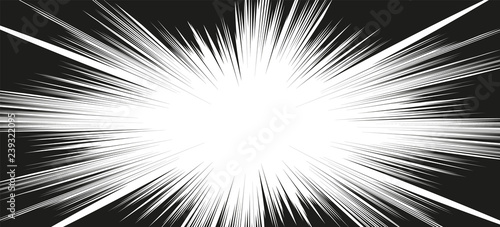Photo Comic book action lines. Speed lines Manga frame