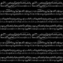 White Music Sheet On Black, Se...