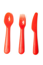 Set Of Orange Baby Plastic Spo...