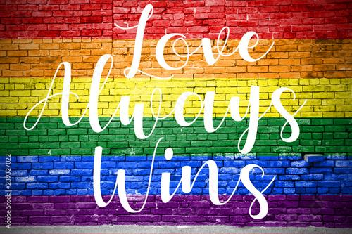 Love always wins Graffiti Canvas Print