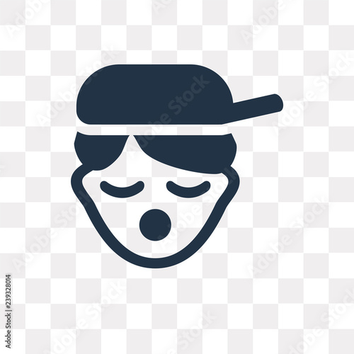 Rapper vector icon isolated on transparent background, Rapper  transparency conc Wallpaper Mural