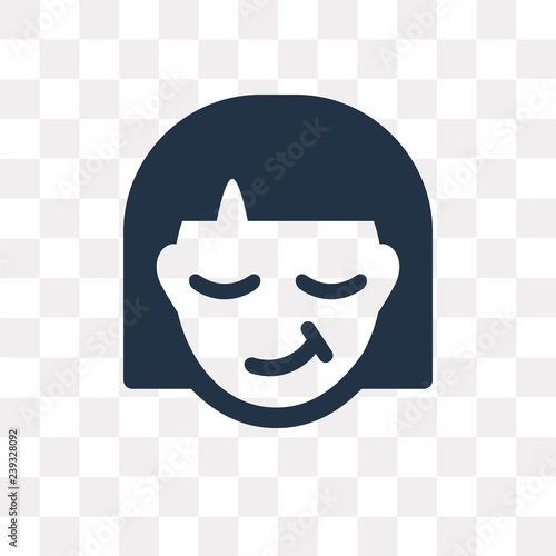 Smug vector icon isolated on transparent background, Smug  transparency concept Canvas Print